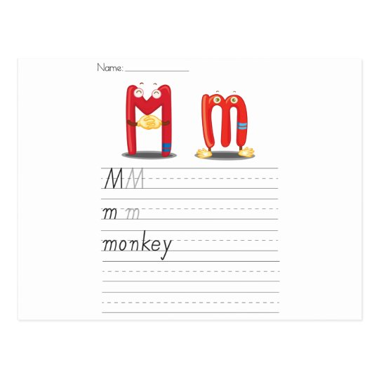 Postal Hoja del alfabeto