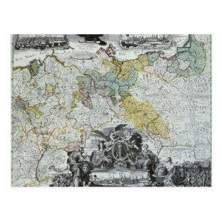 Postal Hoja principal del Sovereign prusiano