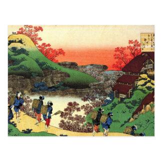 Postal Hokusai - arte japonés - opinión fresca del
