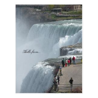 Postal Hola de… Niagara Falls Canadá ny