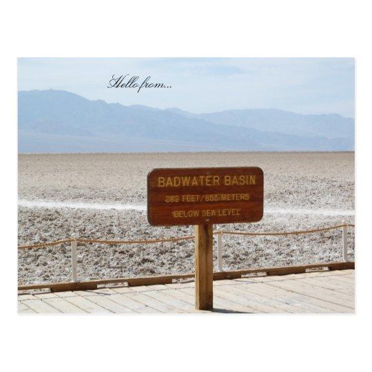 Postal Hola de… Parque nacional de Death Valley