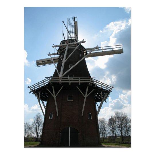 Postal holandesa de la silueta del molino de