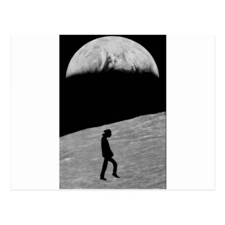 Postal Hombre en la luna