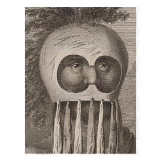 Postal Hombre enmascarado en las islas de bocadillo