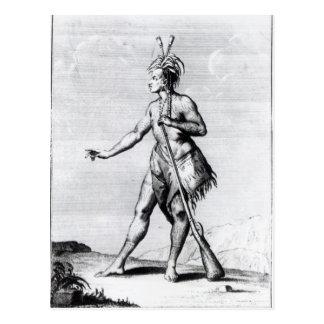 Postal Hombre Iroquois, habitante de Canadá