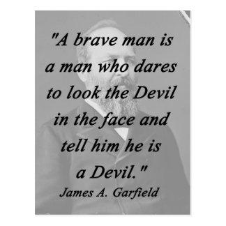 Postal Hombre valiente - James Garfield