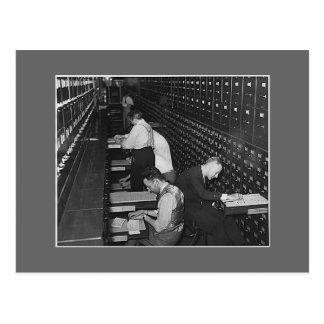 Postal Hombres de la limadura, los años 30