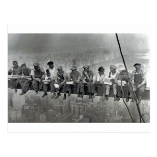 Postal Hombres en fotografía del vintage del carril