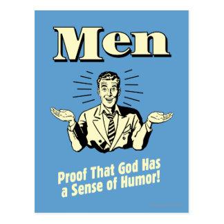 Postal Hombres: Sentido del humor