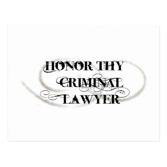 Postal Honre a Thy abogado criminal