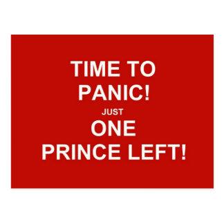 Postal ¡Hora de aterrarse! ¡Apenas un príncipe dejado!
