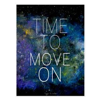 Postal Hora de mover encendido - cósmico, cielo nocturno