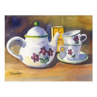 Postal Hora para el té