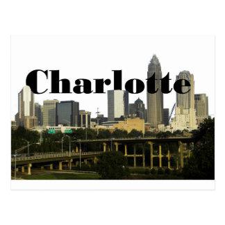 Postal Horizonte de Charlotte NC con Charlotte en el