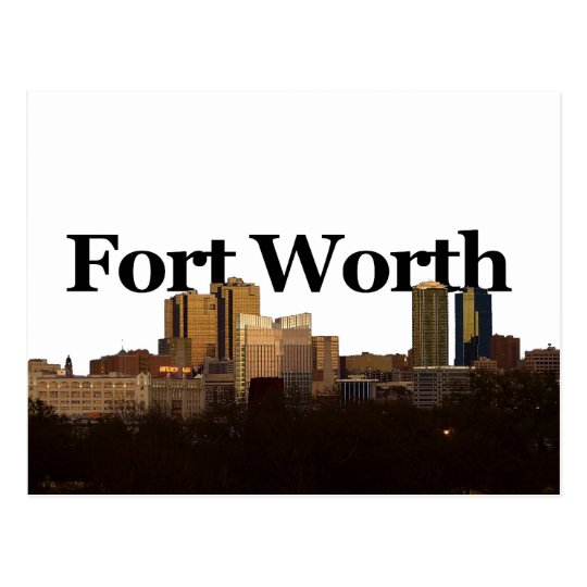 Postal Horizonte de Fort Worth TX con Fort Worth en el