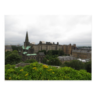 Postal Horizonte de la catedral de Glasgow