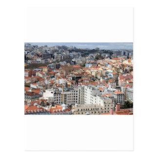 Postal Horizonte de la ciudad de Lisboa