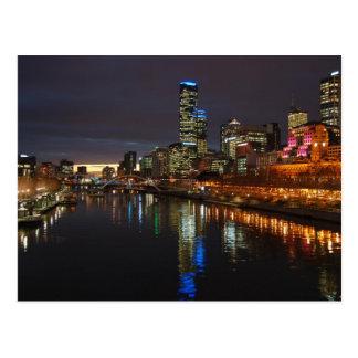 Postal Horizonte de la tarde de Melbourne