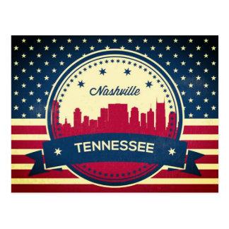 Postal Horizonte retro de Nashville Tennessee