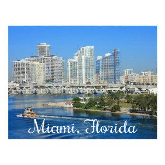 Postal Horizonte y puerto - los E.E.U.U. de Miami la