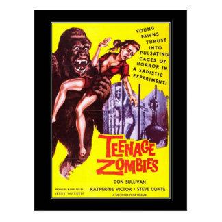 Postal Horror de la película del vintage -