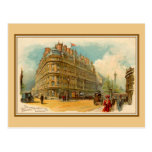 Postal Hotel Metropole de Londres del litho del arte de