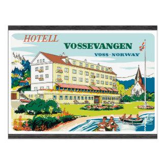 Postal Hotell Vossevangen Voss-Noruega, vintage