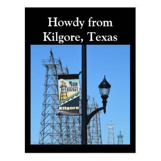 Postal Howdy de Kilgore, Tejas, torres de perforación de