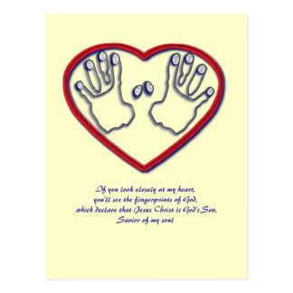 Postal Huellas dactilares de dios - 1 5:6 de Peter - 7