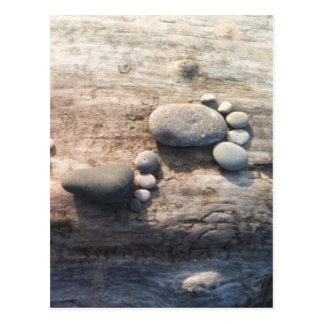 Postal Huellas de la roca