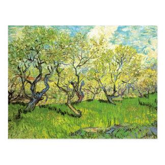 Postal Huerta en flor de Vincent van Gogh