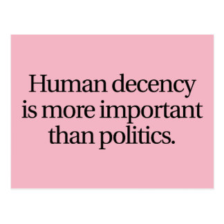 Postal humana de la decencia