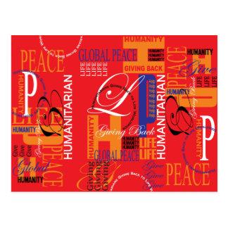 Postal humanitaria de la pintada