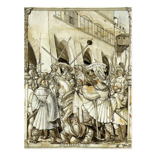 Postal Humillación de Hans Holbein- de la valeriana del