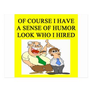 Postal humor del jefe