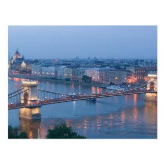 Postal HUNGRÍA, Budapest: Puente (de cadena) de
