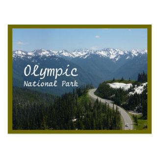 Postal Huracán Ridge (N.P. olímpico) con el texto