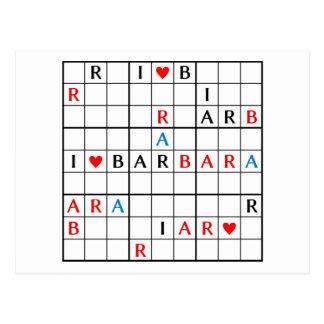 POSTAL I♥BARBARA