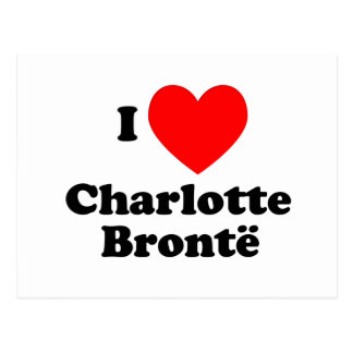Postal I corazón Charlotte Bronte