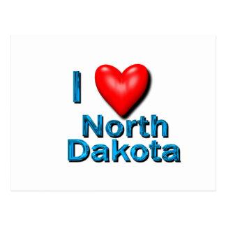 Postal I corazón Dakota del Norte