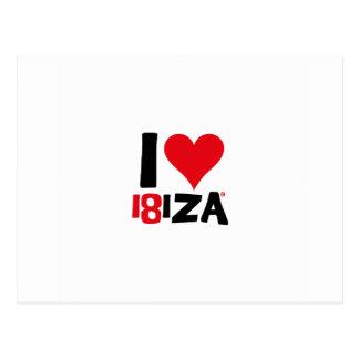 Postal I love Ibiza 18IZA Edición Especial 2018