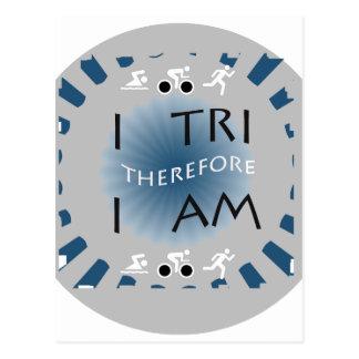 Postal I tri por lo tanto soy Triathlon