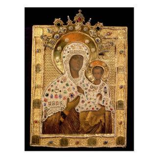 Postal Icono de la Virgen, monasterio de Smolenskaja