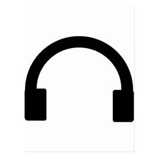 Postal icono de los auriculares
