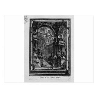 Postal Idea de real-Pasillo de Giovanni Battista Piranesi