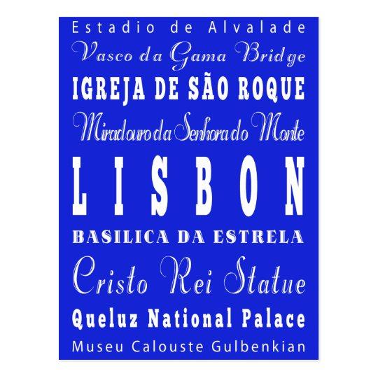 Postal Idea del regalo de Lisboa única, Portugal