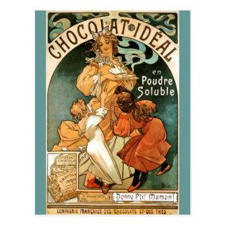 Postal Ideal de Alfonso (Alfonso) Mucha Chocolat