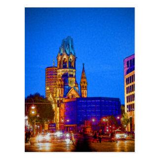 Postal Iglesia conmemorativa de Kaiser Wilhelm, Berlín,