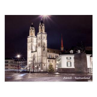 Postal Iglesia de Grossmunster en Zurich