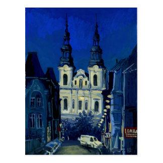Postal Iglesia de la noche
